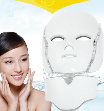 LED маска для лица и шеи +Микротоки 7 цветов
