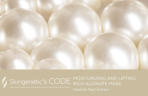 Alginat-Mask Moisturizing And Lifting Rich Skingenetic's Code / Маска с жемчугом