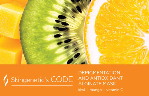 Alginat-Mask Depigmentation And Antioxidant Skingenetic's Code / Маска с вит.С